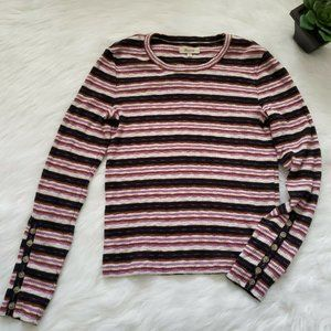 Madewell Long Sleeves Stripped Top